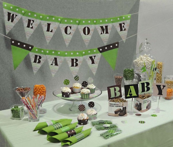 Army Baby Shower Decorations