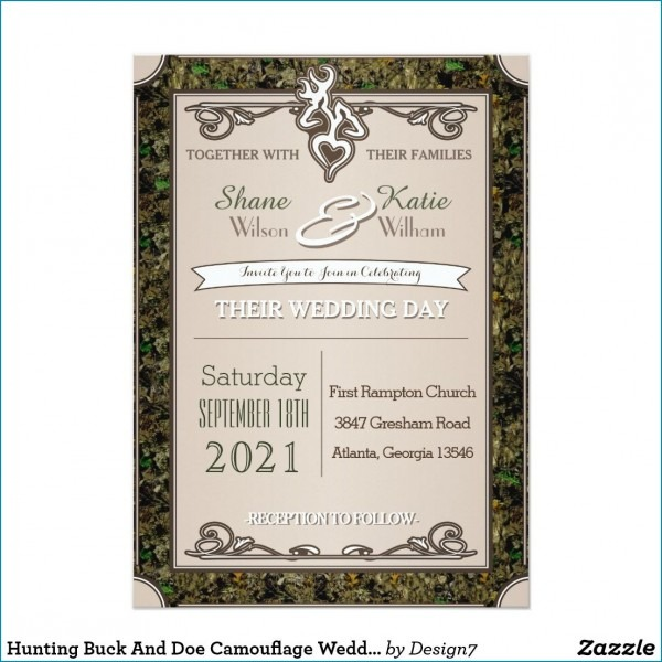 Camo Wedding Invitations  Rustic Camo Wedding With Camo Wedding