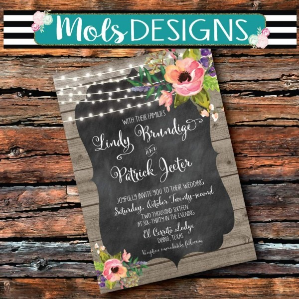 Chalkboard Wedding Invitations Chalkboard Wedding Invitations For
