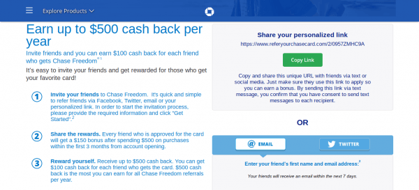 Chase Mobile App Referrals