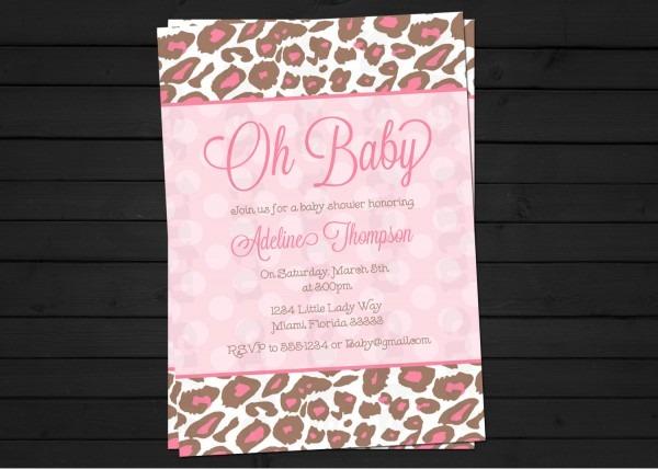 Baby Shower  Leopard Print Baby Shower  Cheetah Baby Shower