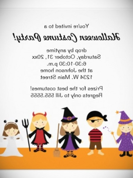 Childrens Fancy Dress Party Invitations