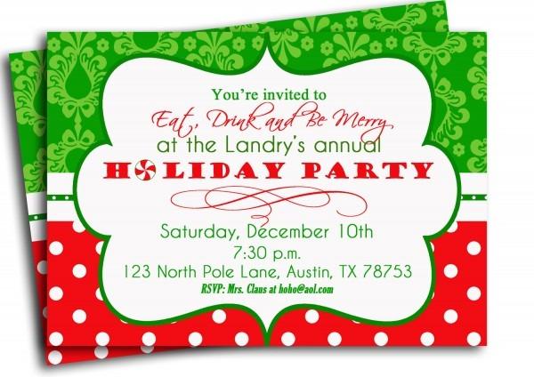 Christmas Party Invitation Ideas – Fun For Christmas & Halloween