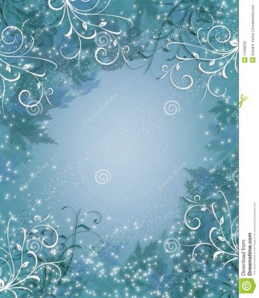 Christmas Background Winter Sparkle Blue Stock Illustration