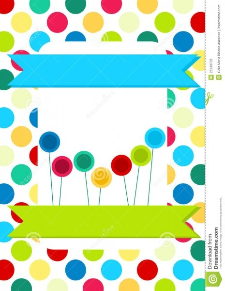 Circles And Lollipops Invitation Card Stock Illustration
