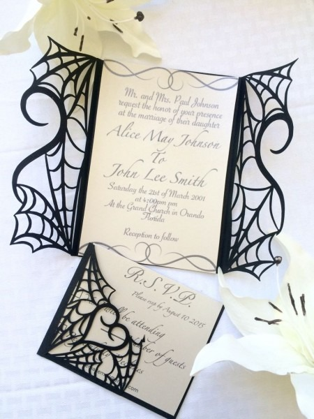 Classy Halloween Wedding Invitations Halloween Wedding Invitation