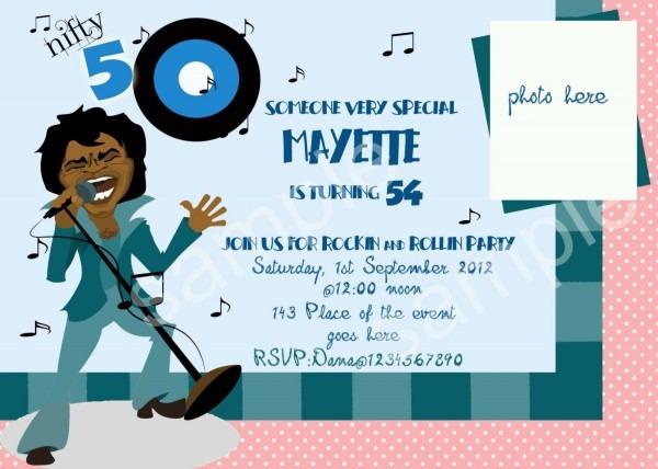 50th Birthday Party Invitation Wording Funny