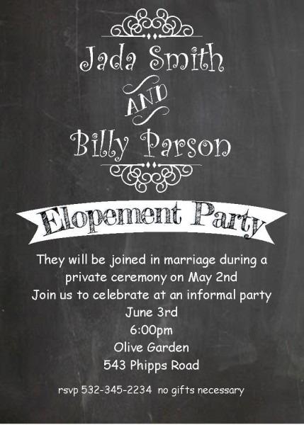 Invitations   Cool Wedding Invitation Wording After Elopement