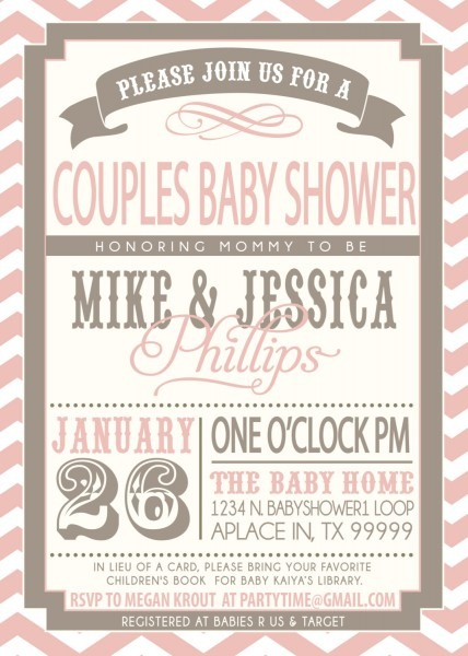 Couple Baby Shower Invitations Etsy – Baby Shower Ideas