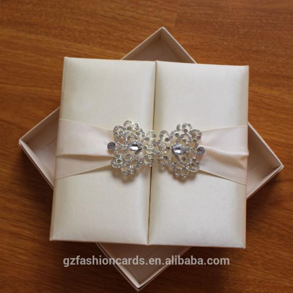 Cream Silk Invitation Folder