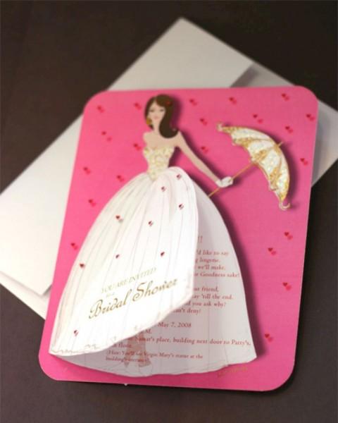 Creative Handmade Bridal Shower Invitations Ideas 50