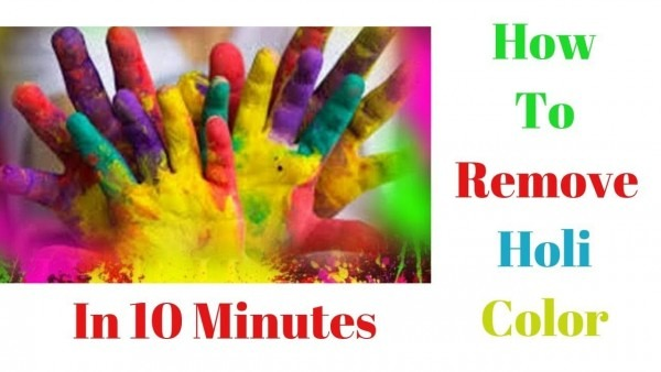 How To Remove Holi Color (hindi)hairs And Skin