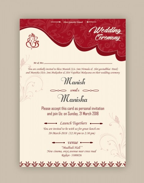 Free Wedding Card Psd Templates In 2019