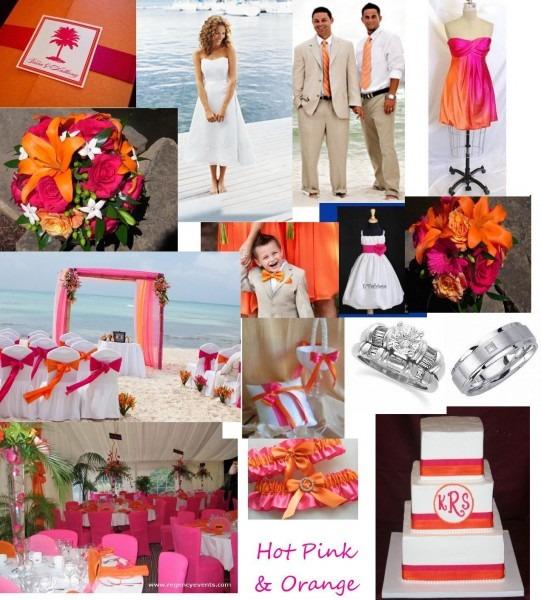 Orange And Hot Pink Beach Wedding Compilation