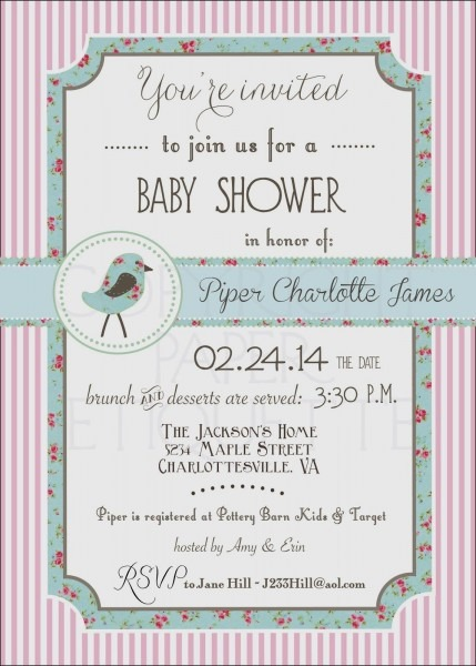 Get Baby Shower Invitations Etiquette
