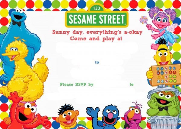 Download Now Free Sesame Street Birthday Invitations