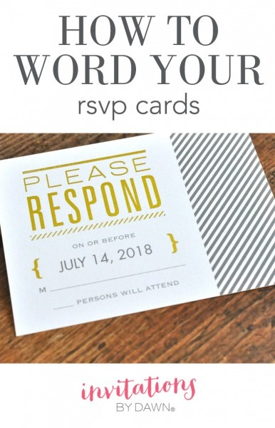 How To Word Your Rsvp Cards
