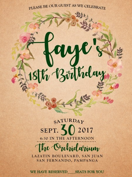 Debut Invitation Card From Images And Get Inspired To Make Your