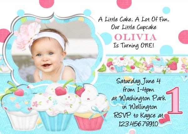 Elegant Baby Birthday Party Invitation Template Or Invitations