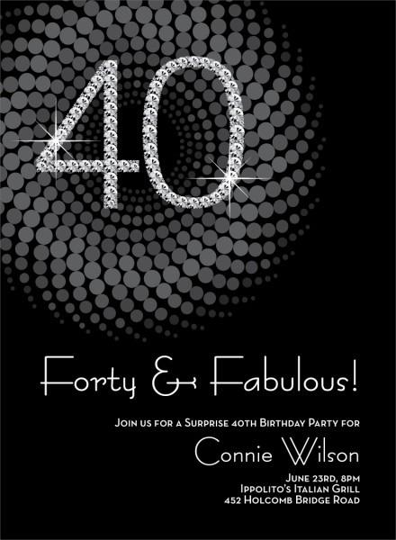 Invitation 40 Birthday Party