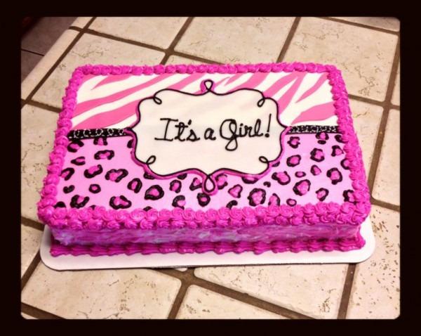 Zebra And Cheetah Print Baby Shower Cake  )