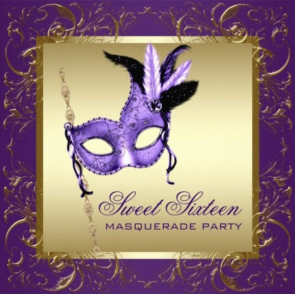 Masquerade Party Invitation For Sweet 16