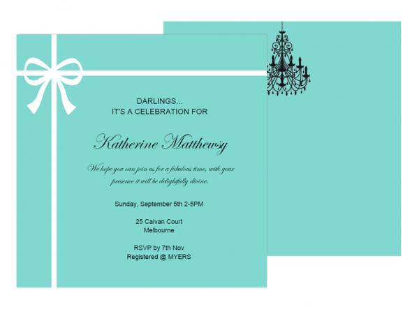 Editable Tiffany Invitations