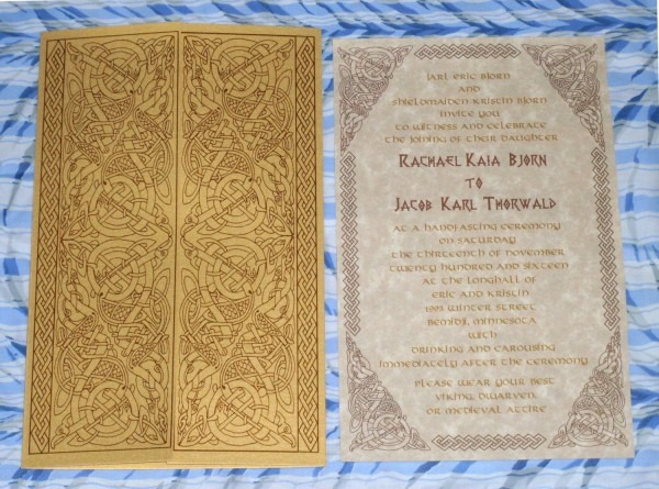Viking, Valhalla Gates, Norse, Celtic Gatefold Wedding Invitation