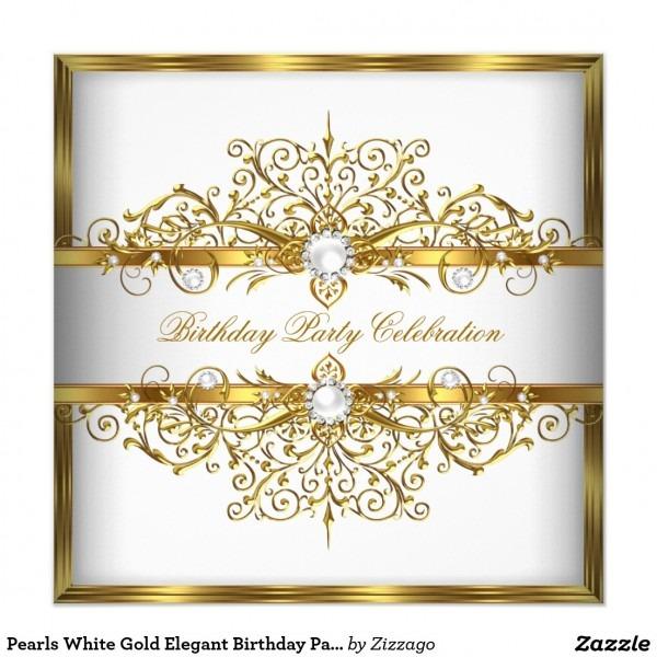 Elegant Birthday Invitations Elegant Birthday Invitations And