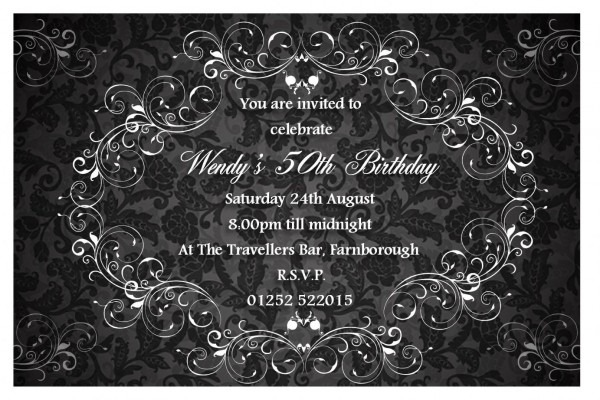 Elegant Party Invitations Elegant Party Invitations Along With