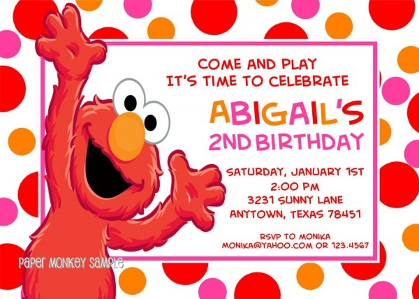 27 Images Of Elmo Party Invitation Template Free