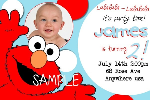 29 Images Of Elmo 1st Birthday Invitations Template