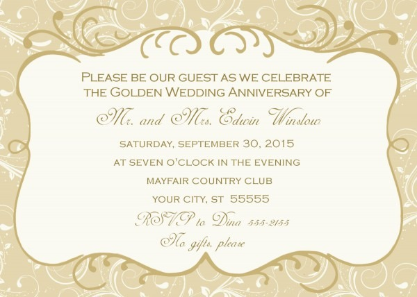 Engaging 50th Anniversary Invitations Religious All For Engaging