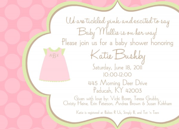 Baby Shower  Baby Shower Invitation Wording  Best Magnificent Baby