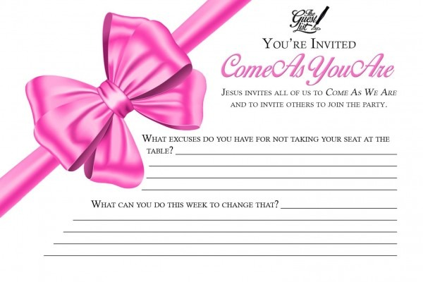 Come As You Are Party Invitation