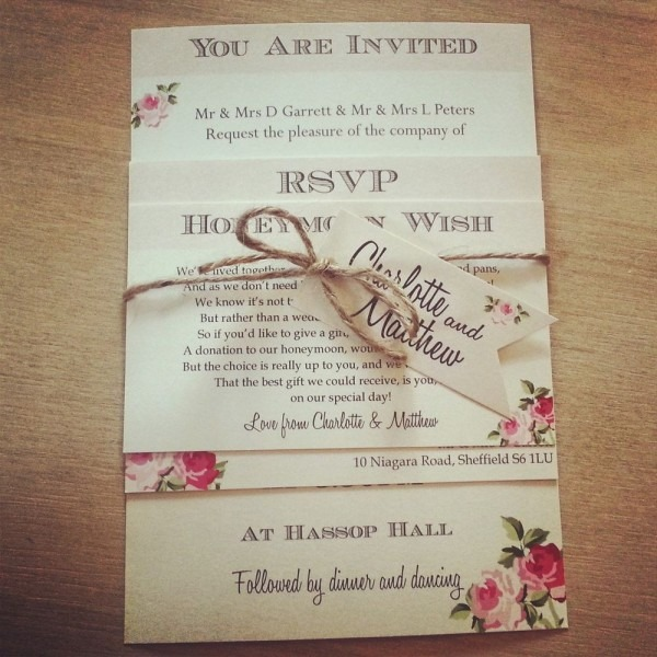 Fabulous Chic Wedding Invitations 15 Beautiful Shab Chic Wedding