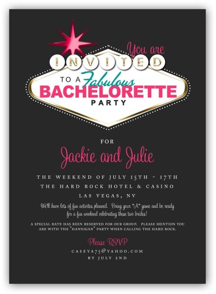 Las Vegas Bachelorette Party Invitations