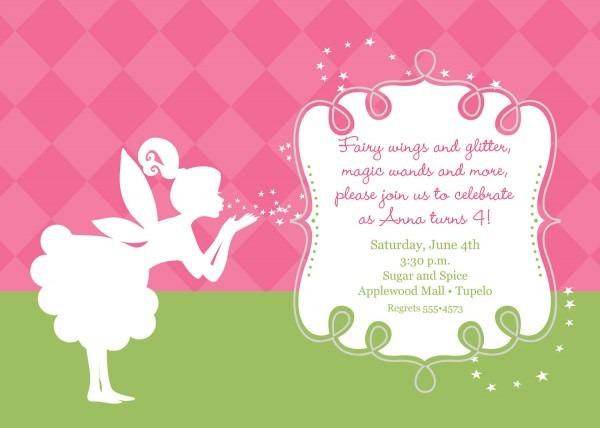 Fairy Birthday Invitations — Birthday Invitation Examples