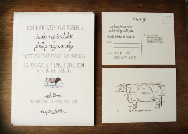 Barn Style Wedding Invitations