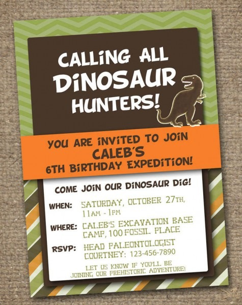 Freebie Friday  Free Dinosaur Party Printables