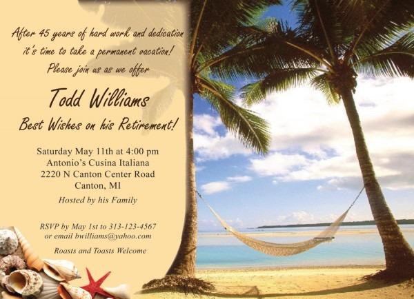 Free Retirement Party Invitations