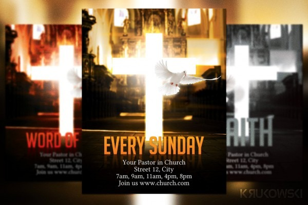 Free Church Invitation Flyers Free Religious Easter Backgrounds