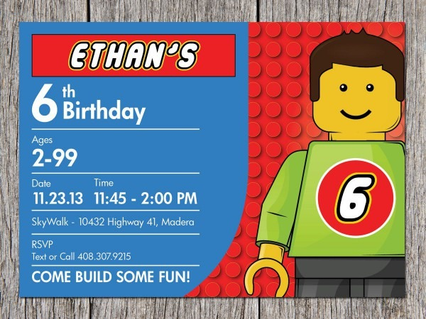Free Lego Invitations Printable From I For A Elegant Party