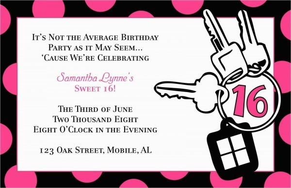 Free Printable 16th Birthday Invitations Free Templates For