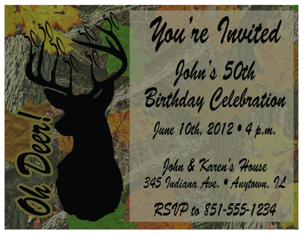 Free Printable Camo Birthday Invitations