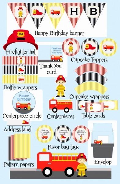 18 Elegant Free Printable Fireman Birthday Invitations