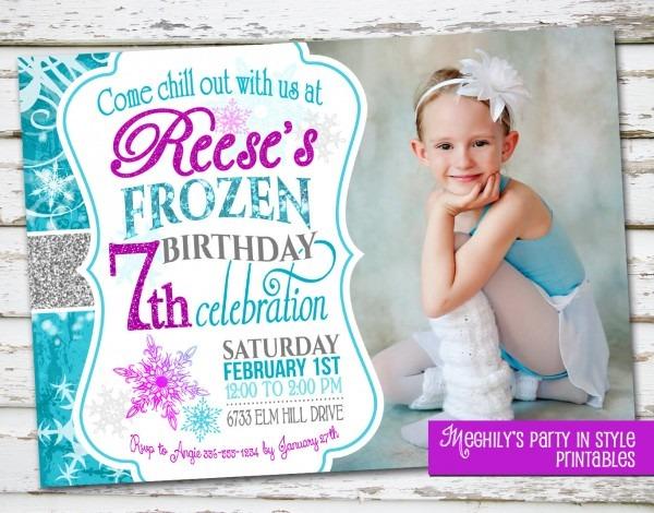 Frozen Birthday Invitations Frozen Birthday Invitations Including
