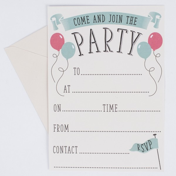 Party Invitations Cards