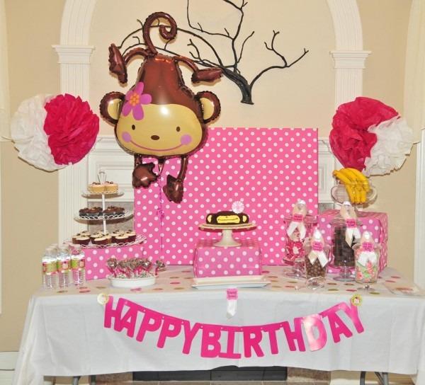 Girl Monkey Birthday Party