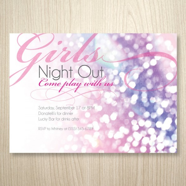 Girls Night Out Invitations Free Printable